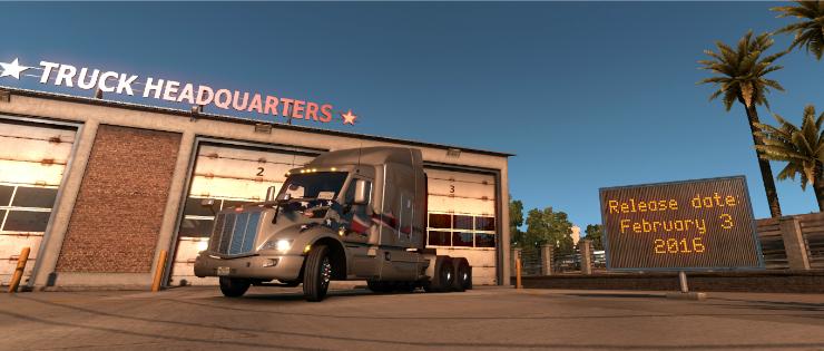 New screen from American Truck Simulator