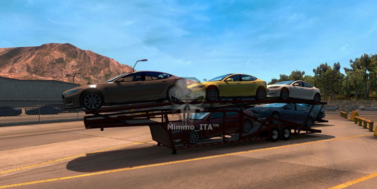 All Trailer Car Transporter for Multiplayer Convoy Mod - ATS