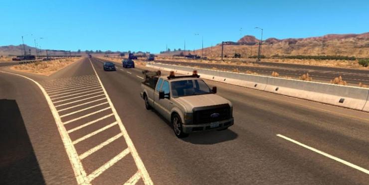 Ford Service AI Traffic Car for Mod - ATS mod / American