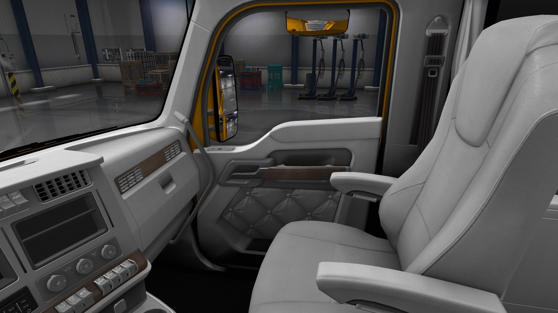Kenworth T680 White Gauges Truck Interior V1 2 For Ats