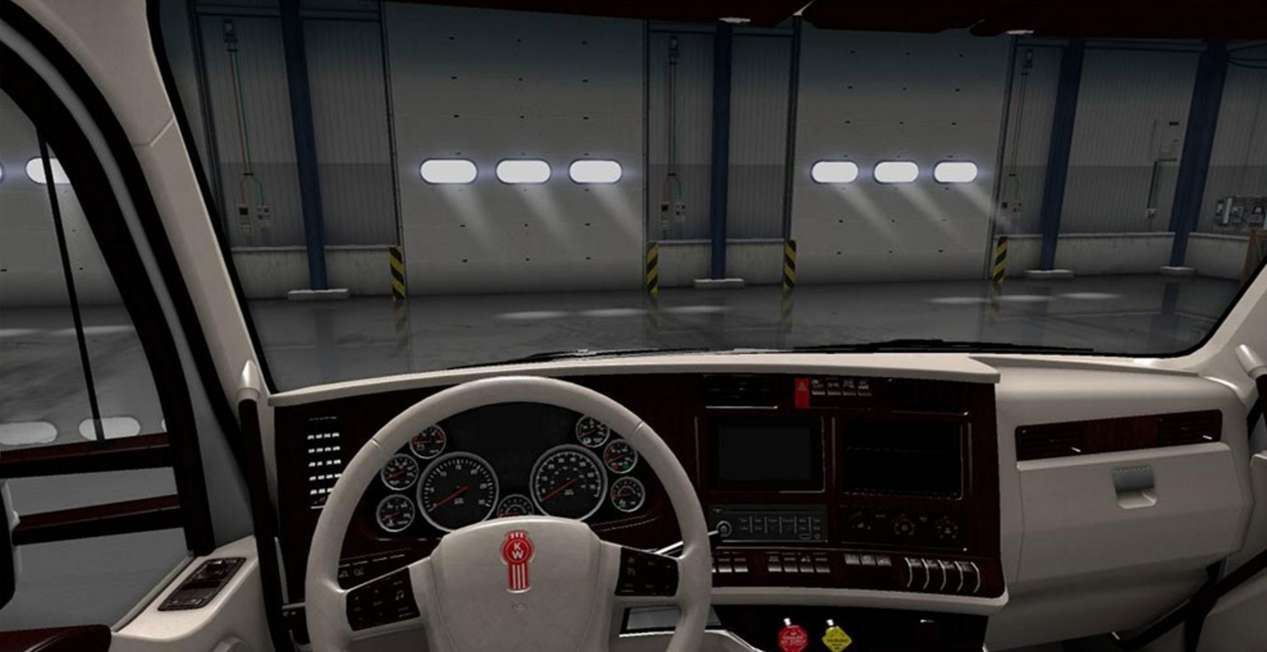 Kenworth T680 White Lux Interior For Ats Ats Mod American Truck Simulator Mod