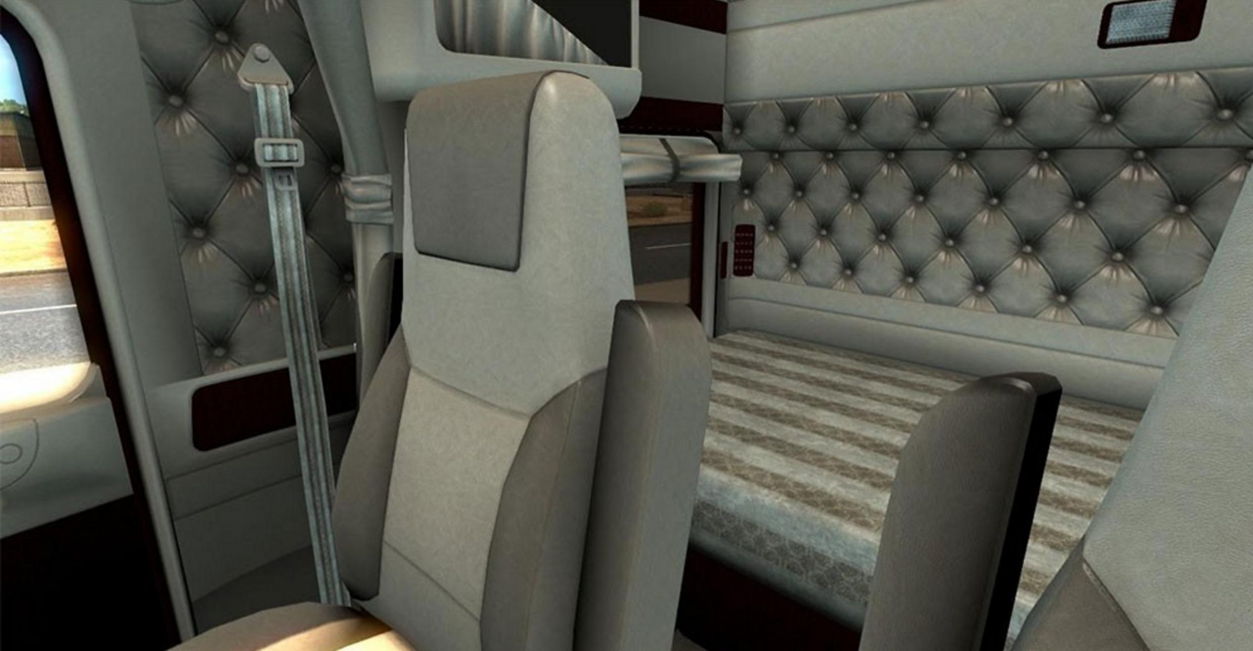 kenworth w900 lux interior v2 for truck for ats ats mod american truck simulator mod. Black Bedroom Furniture Sets. Home Design Ideas