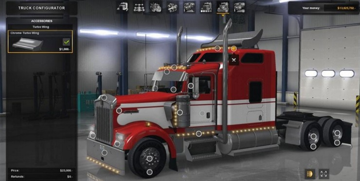 Long Frame For w900 daycab + wing unlocked ATS - ATS mod / American ...