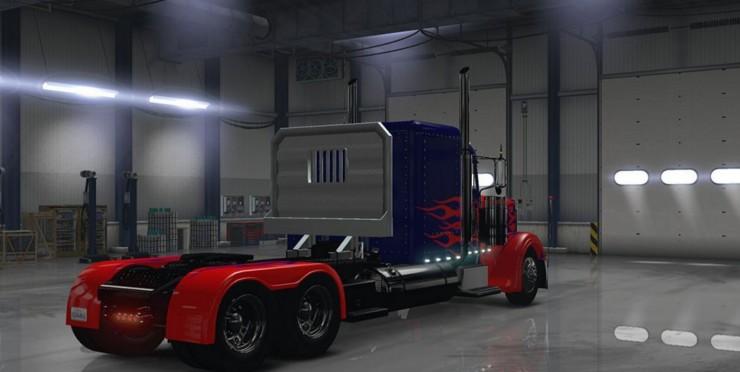 Optimus Prime For Peterbilt 389 Truck Ats Ats Mod