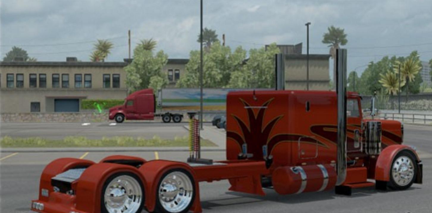 Peterbilt 389 Orange Show Truck Mod Mod Ats Mod