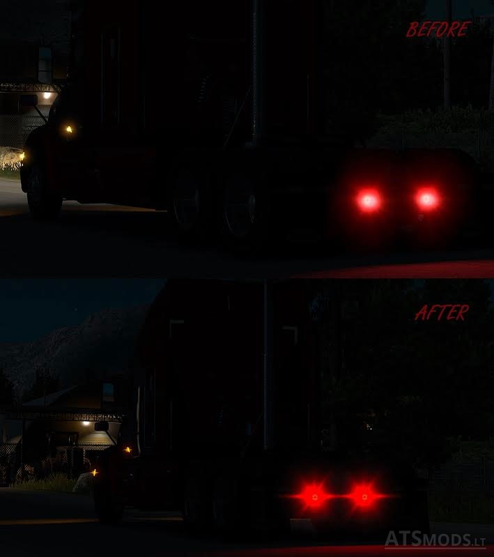 Realistic Flare Pack Mod - ATS mod / American Truck