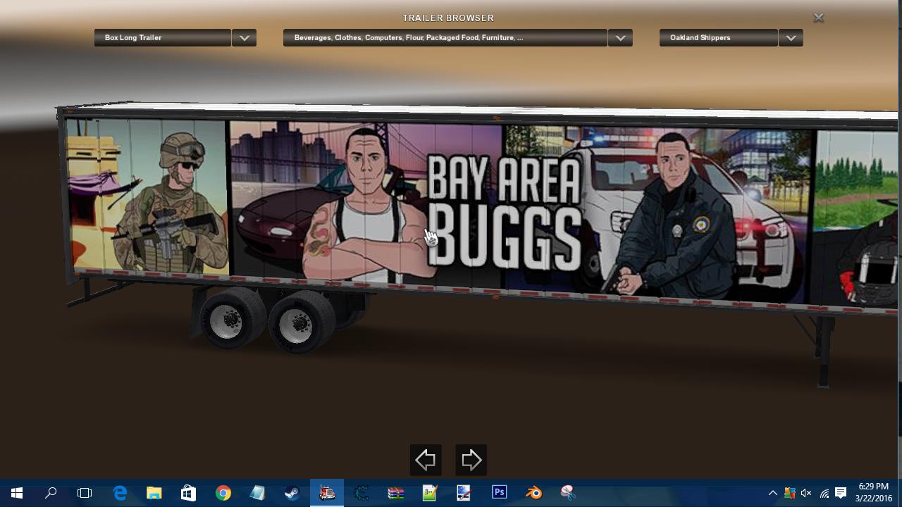 Bay Area Buggs Trailer Skin Ats Mod American Truck