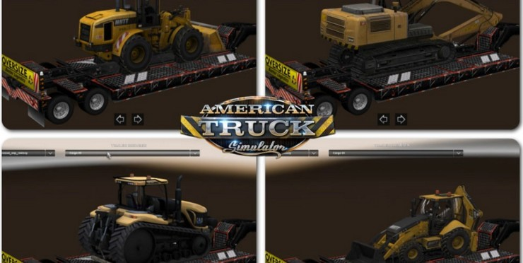 Overweight Trailers Pack v 1 0 for ATS - ATS mod / American