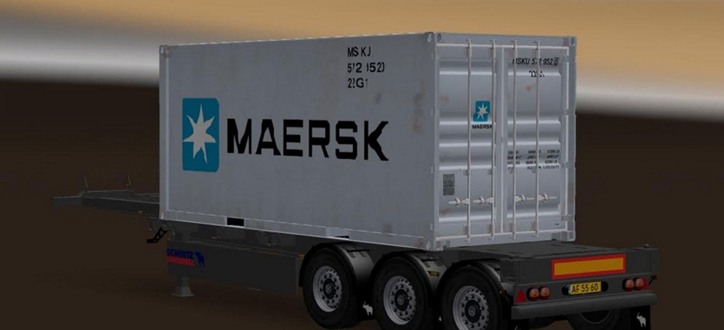 Trailer Pack Container 20ft v 2 0 for for ATS - ATS mod