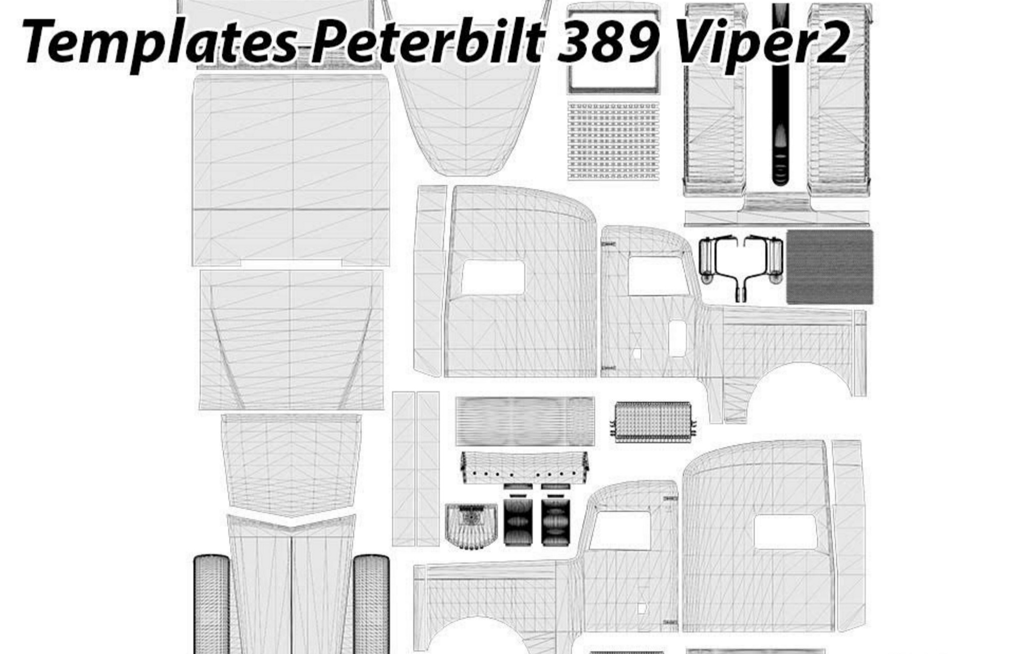 peterbilt 389 viper2 templates for for ats ats mod american
