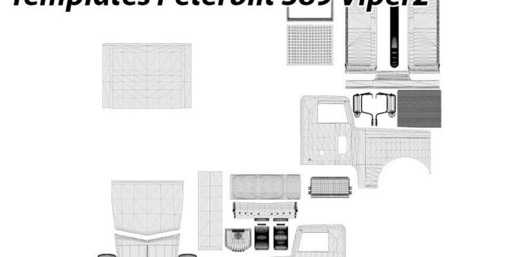 peterbilt 389 viper2 templates for mod ats mod american truck
