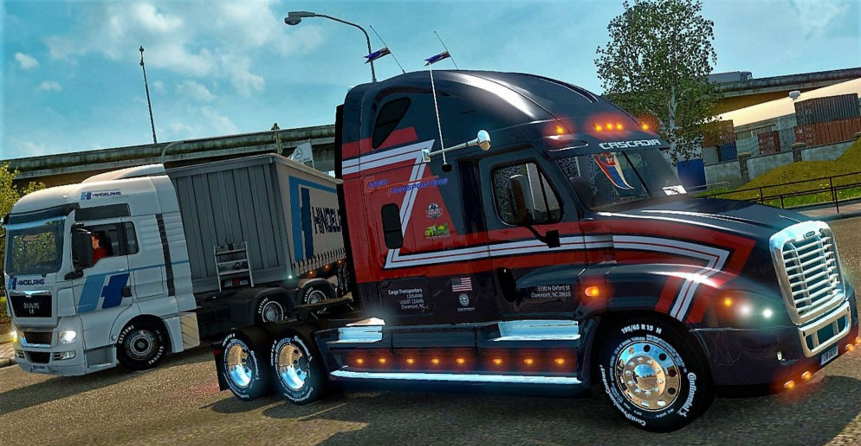 Freightliner Cascadia Cargo Transporters Mod Mod - ATS mod ...