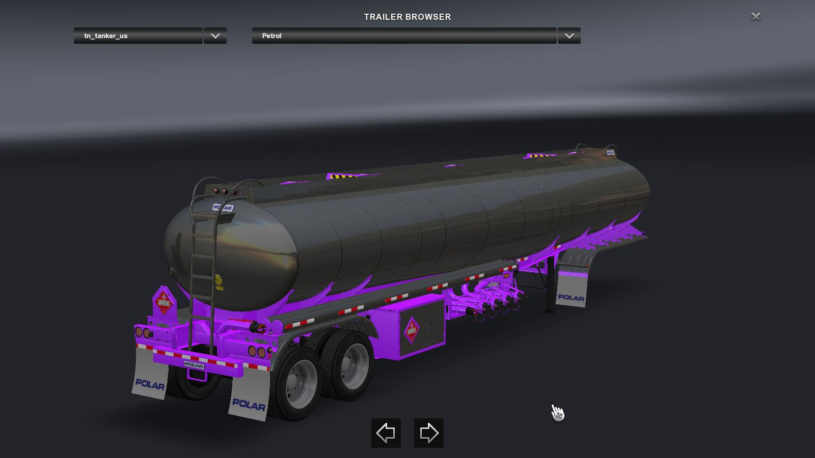 Polar tanker chassis paint v1 4 trailer ats mod for Car paint simulator