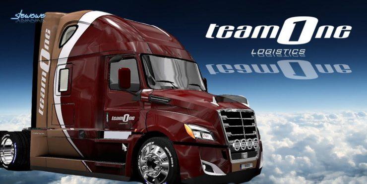 Freightliner Cascadia 2018 Team One Logistics Mod ATS - ATS mod