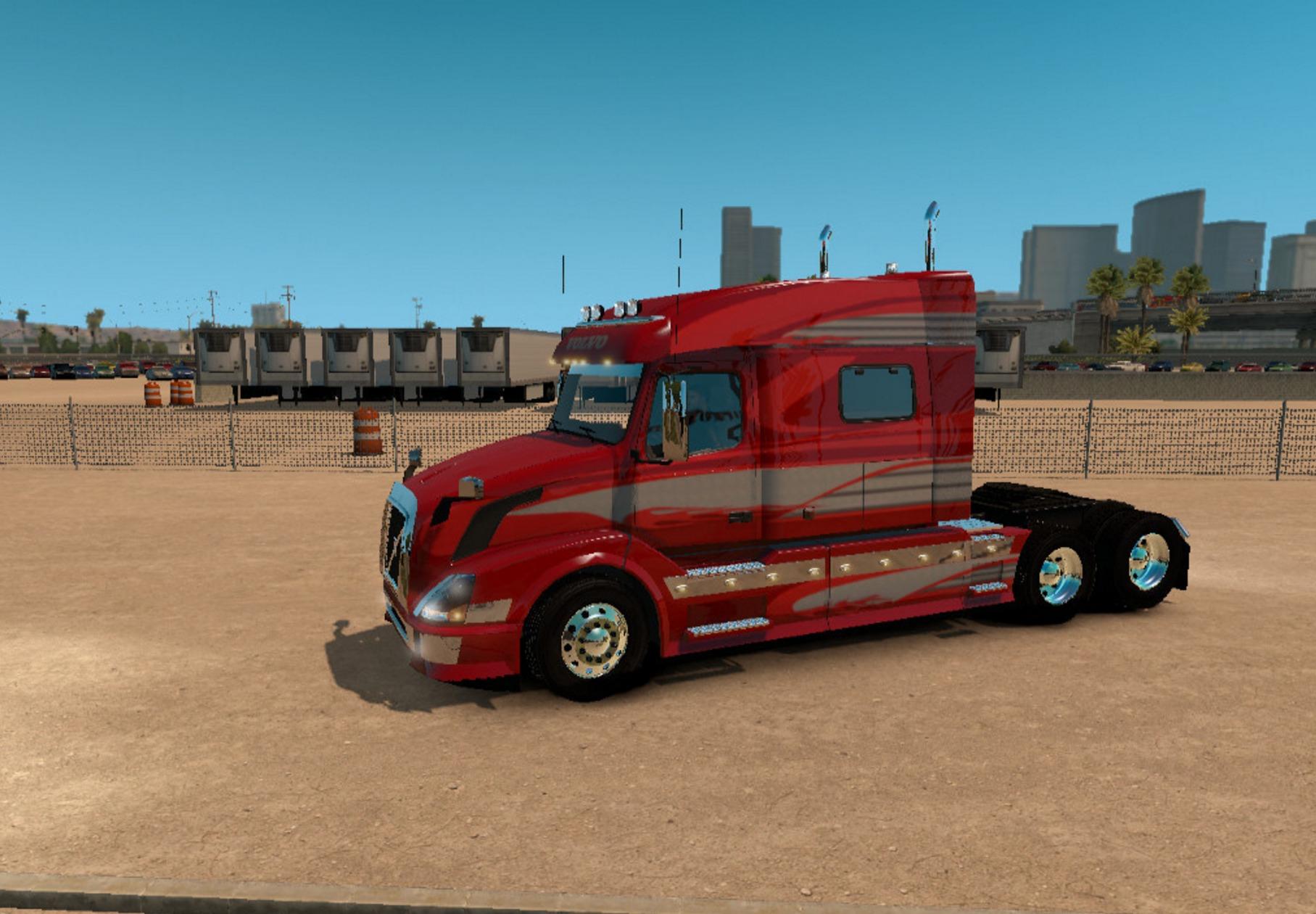 Volvo VNL 730 Red Fantasy for VNL Truck Shop Skin - ATS ...