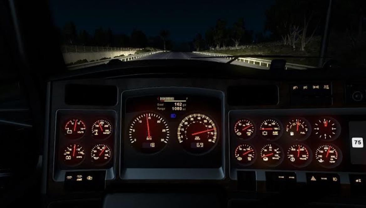 Kenworth W900 Dashboard Fs17 Skin Ats Mods American