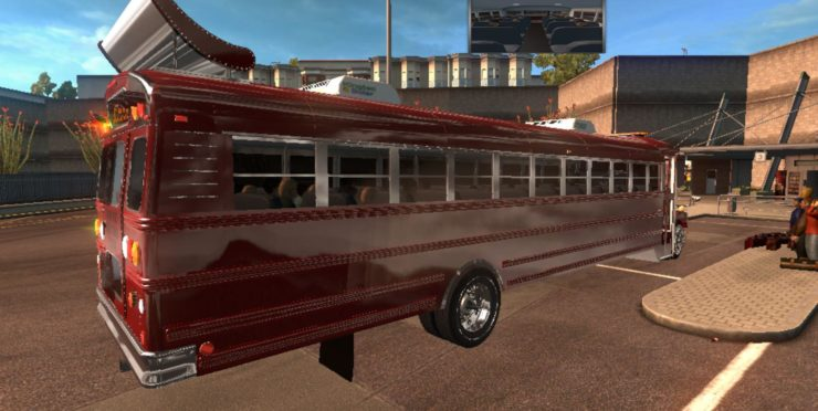 SCHOOL BUS FREIGHTLINER F65 BETA AMERICAN TRUCK for ATS