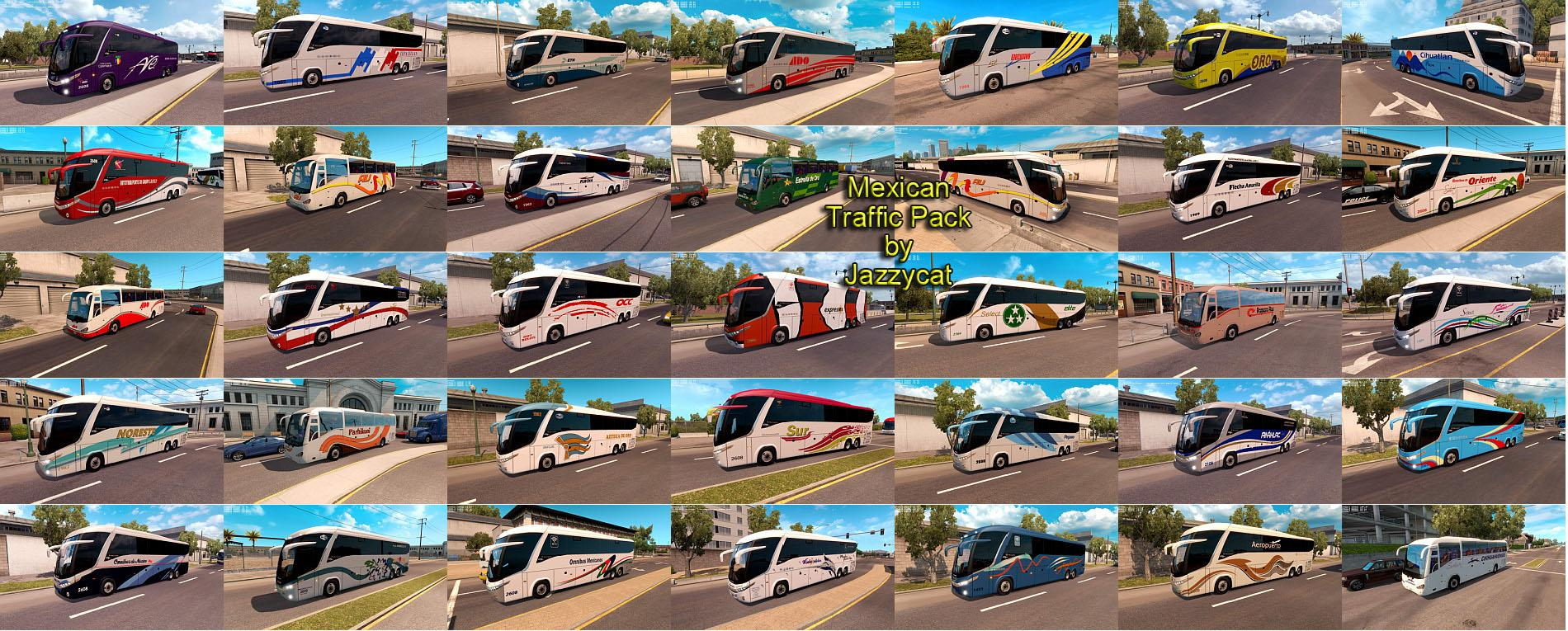 MEXICAN TRAFFIC PACK BY JAZZYCAT V1 2 Mod - ATS mod