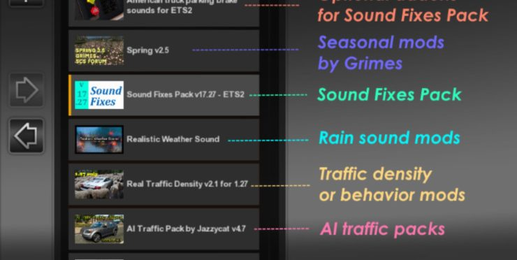 Sound Fixes Pack v 18 2 for ATS | ATS Mods / American Truck