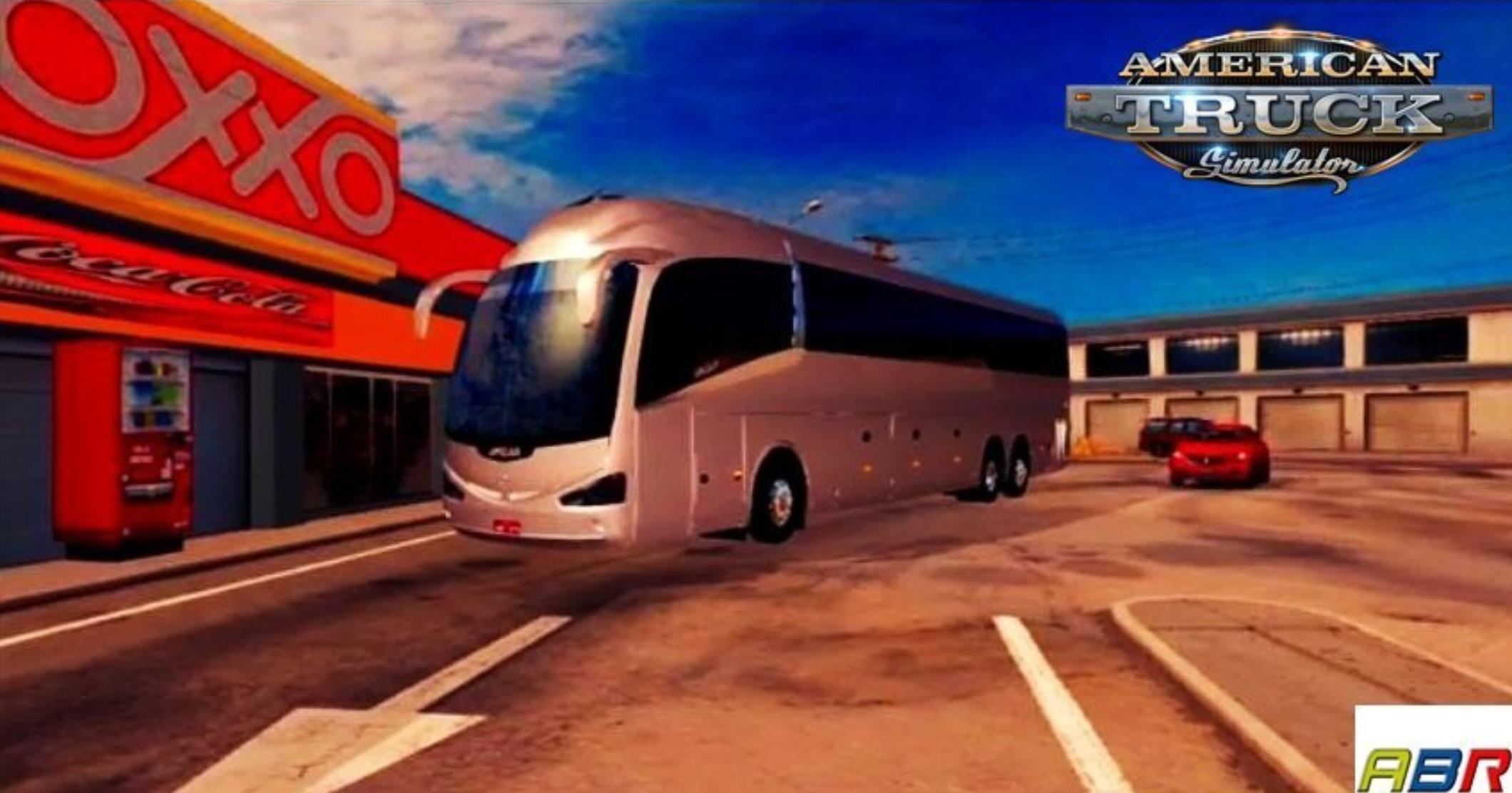 Onibus Volvo Irizar I6 6×2 Bus v1 6 (1 30 x) ATS Mod - ATS