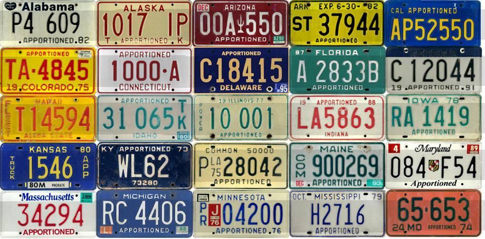 ATS U S  STATES APPORTIONED LICENSE PLATE PACK V1 0 Mod