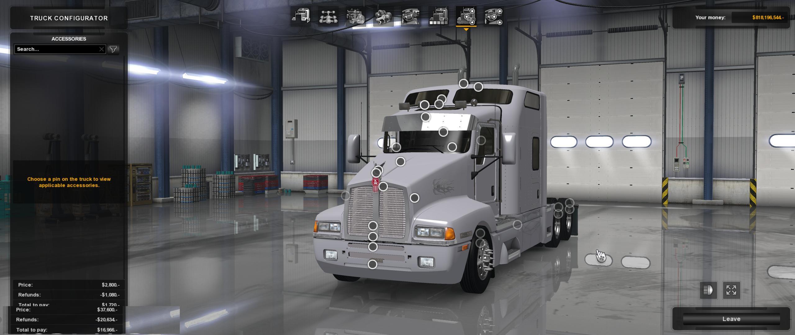 kenworth t600 v1 0 truck   american truck