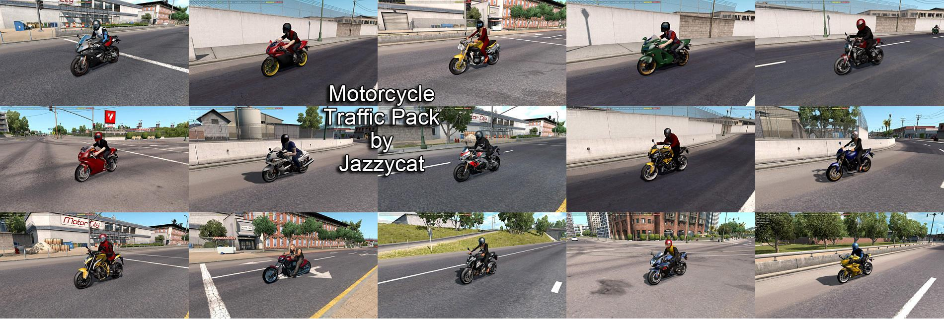 Motorcycle Traffic Pack by Jazzycat v1 3 ATS - ATS mod