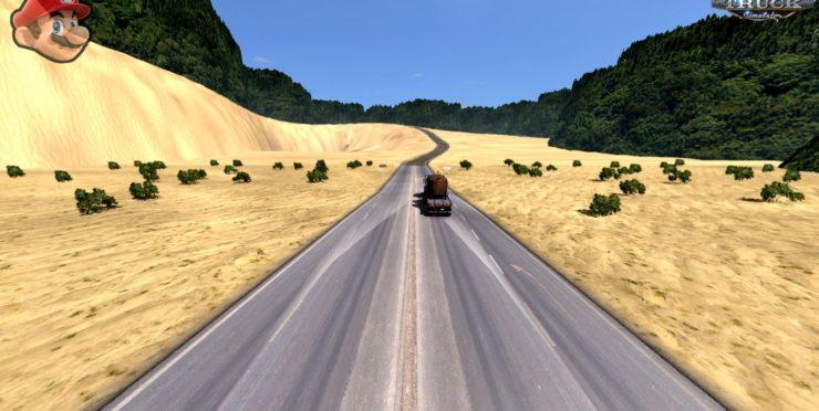 Mario +DLC Oregon (1 32 x ) ATS ATS - ATS mod / American Truck