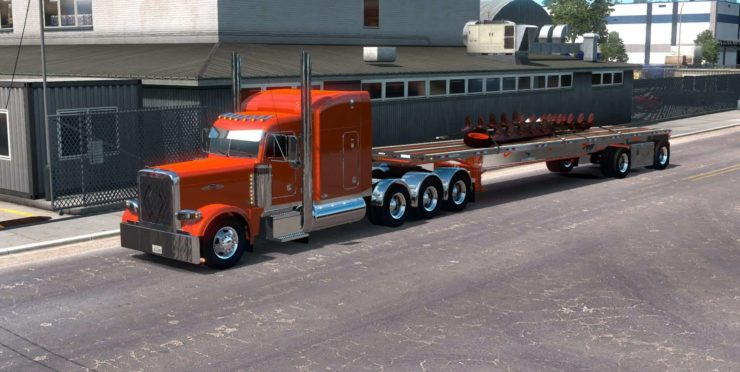 Manac Darkwing Flatbed Ownable 1 34 x Trailer - ATS mod